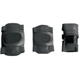 James Elbow Wrist And Knee Pad Junior Set In Black