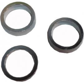 "JE James Alloy Spacer 1.1/8"" Set of 3 Medium Silver"