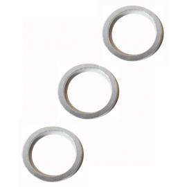 "JE James Alloy Spacer 1.1/8"" Set of 3 Small Silver"