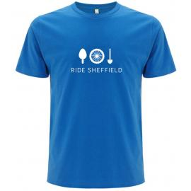 Ride Sheffield Mens Bamboo Blue T-Shirt