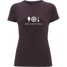Ride Sheffield Womens Bamboo Burgundy T-Shirt