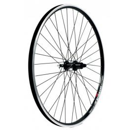 KX Hybrid 700C Singlewall QR Cassette Wheel Rim Brake Rear Black