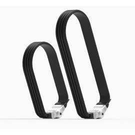 Litelok Flexi U Silver Twin  R & L Combo Bike Lock
