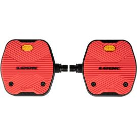 Look Geo City Grip Flat Pedal Red