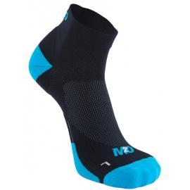 M2O 1/4 Crew Compression Socks Black/White