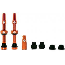 Muc-Off Tubeless Valve Kit 44mm/Orange