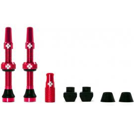 Muc-Off Tubeless Valve Kit 44mm/Red