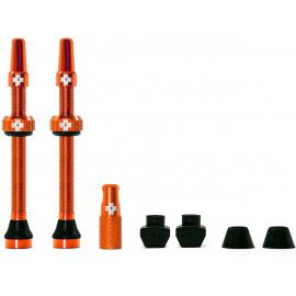 Muc-Off Tubeless Valve Kit 60mm/Orange