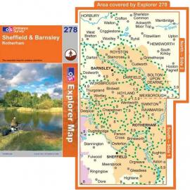 OS Explorer Map 278 Sheffield and Barnsley