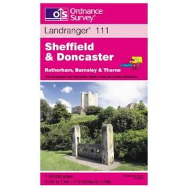 OS Landranger Map 111 Sheffield and Doncaster