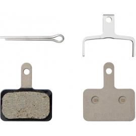 Shimano B03S Disc Brake Pads and Spring, Steel Backed, Resin
