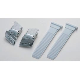 Shimano Universal Large Buckle And Strap Set Silver/White