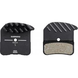 Shimano H03A Alloy Backed With Cooling Fins Resin Disc Brake Pad
