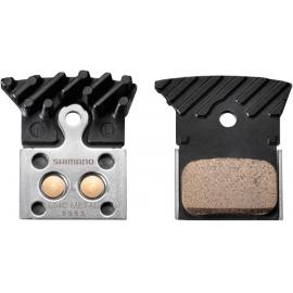 Shimano L04C Disc Brake Pads, Alloy Backed With Cooling Fins