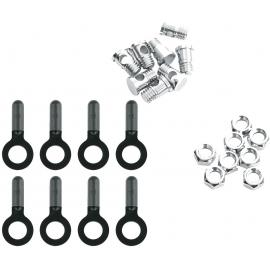 SKS 8X Bolts, Nuts & Endcaps For Chromoplastics/Longboard