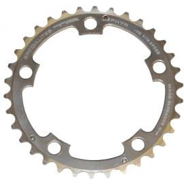 TA Zepher Inner 110PCD 5 Arm Chainring Silver 36T