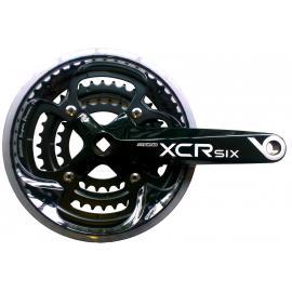 SR Suntour CW-XCR6-T418 26/36/48T Chainset Black
