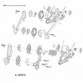SRAM Jockey Wheels for X9 2005-09