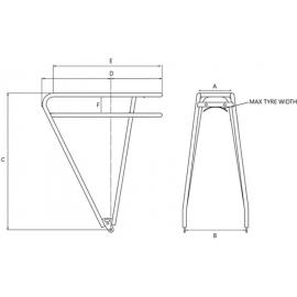 Tortec Explorer Post Fitting Rear Rack Black