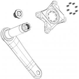 Sram Crank Arm Bolt KI M18/M30 Alloy Self-Extracting BB30 Right