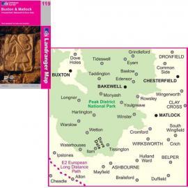 OS Landranger Map 119 Buxton and Matlock